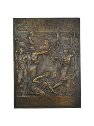 Targa in bronzo celebrativa della Marcia su Roma