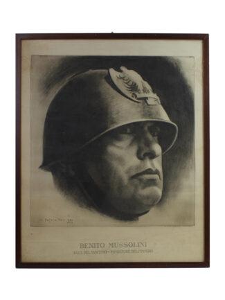 Stampa Benito Mussolini Elmato - Africa Orientale - Impero