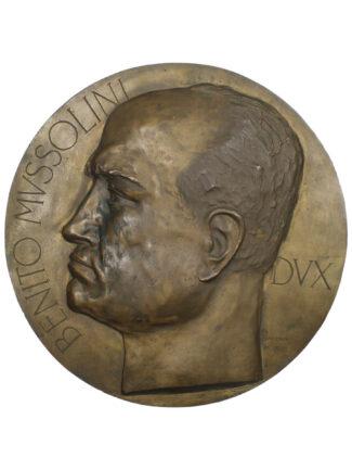 medaglione in bronzo Benito Mussolini