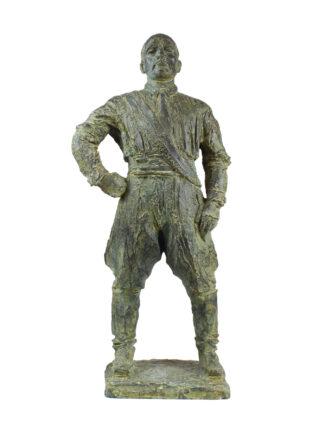 statua in bronzo di Benito Mussolini