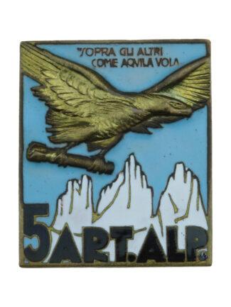 5° Reggimento Artiglieria Alpina - modello dorato