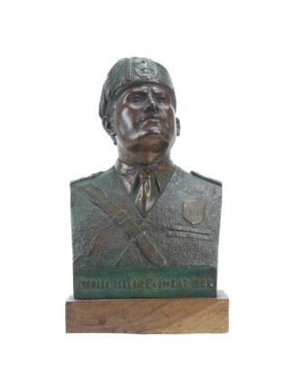 Benito Mussolini con orbace - Mezzobusto in bronzo