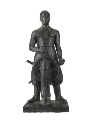 Statua di Benito Mussolini timoniere o nocchiero - Libero Frizzi