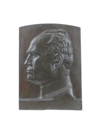 Ritratto in bronzo di Benito Mussolini - Mistruzzi