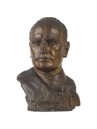 """Busto di Benito Mussolini Opus """"Michelangelo Parlato"""""""